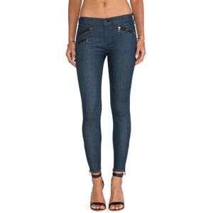 Rag & Bone Skinny Crop Zipper Jeans